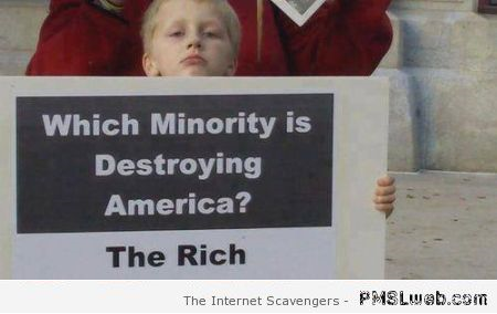 Which minority is destroying America humor at PMSLweb.com