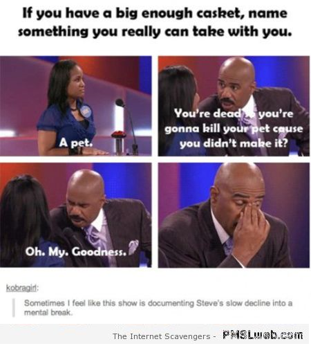 Funny Steve Harvey losing it on family feud