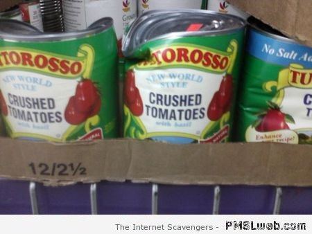 Funny crushed tomatoes – Monday funny pictures at PMSLweb.com