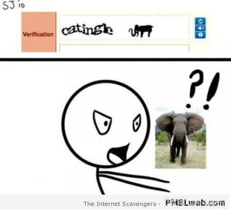 Funny elephant captcha – Monday guffaws at PMSLweb.com