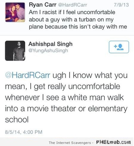 Racist gets owned humor at PMSLweb.com