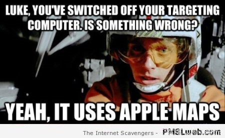 Luke Skywalker apple maps meme