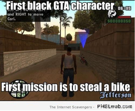 First black GTA character meme at PMSLweb.com