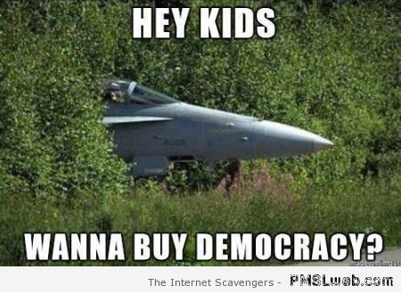 Wanna buy democracy meme