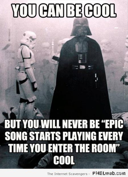 You can be cool darth vader meme