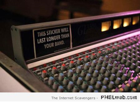 This sticker will last longer than your band at PMSLweb.com