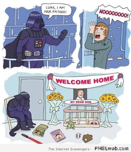 Funny darth vader parenting cartoon