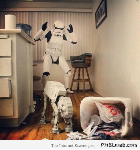 Real life of a stormtrooper humor