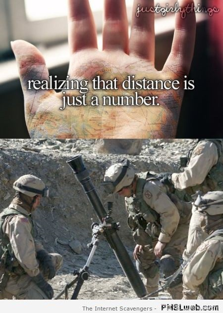 The distance is just a number humor at PMSLweb.com