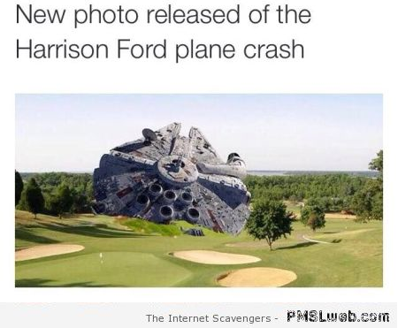 Funny Harrison Ford plane crash