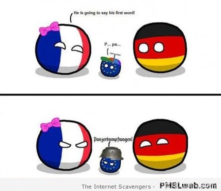 Funny France & Germany polandball at PMSLweb.com