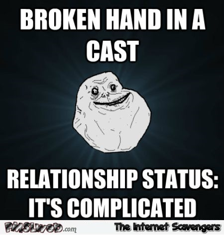 Relationship status it's complicated meme - Humorous Tuesday at PMSLweb.com