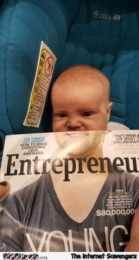 Funny baby face mashup – Hilarious pictures at PMSLweb.com