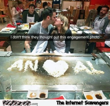 Funny engagement photo fail