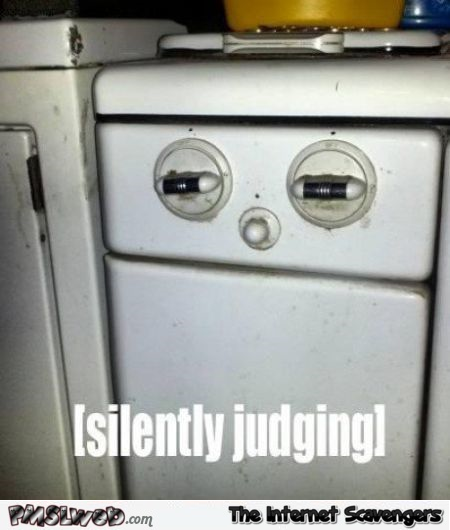 Funny silently judging stove at PMSLweb.com