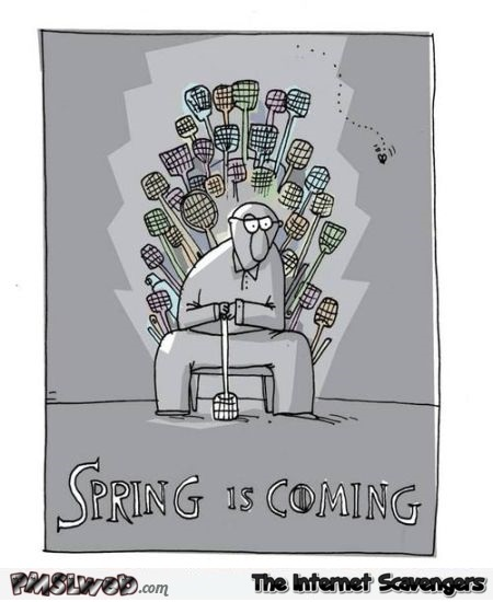 Spring is coming humor at PMSLweb.com