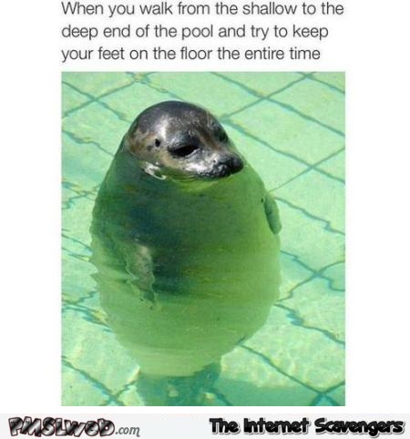 When you walk in the swimming pool humor at PMSLweb.com