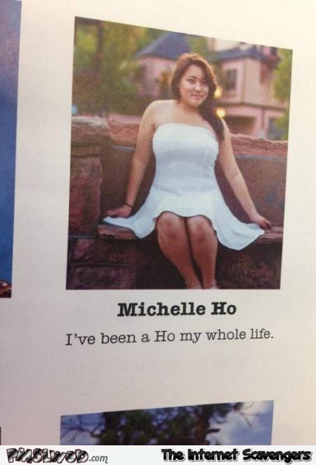 Ho is my surname funny year book at PMSLweb.com