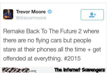 Funny back to the future remake tweet at PMSLweb.com