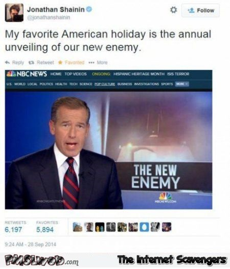 Favorite American holiday funny tweet at PMSLweb.com