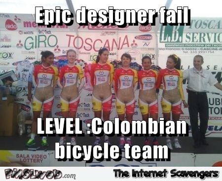 Colombian bicycle team fail meme at PMSLweb.com