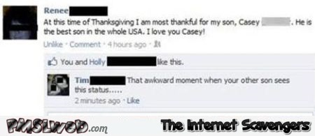 Best son funny facebook fail at PMSLweb.com
