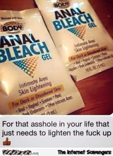 This excellent anal bleaching yourself