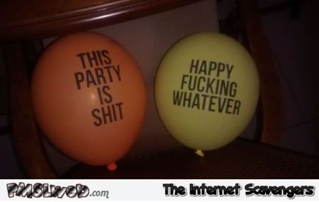 Sarcastic party balloons at PMSLweb.com