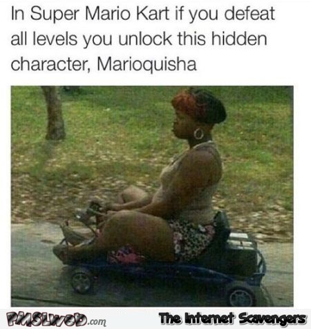 Funny hidden character to unlock in Mario kart at PMSLweb.com