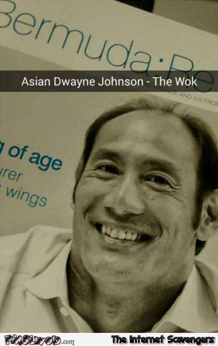 Asian Dwayne Johnson humor – Hilarious pictures at PMSLweb.com