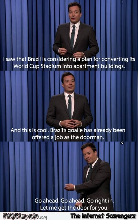 Jimmy Fallon about Germany beating brazil humor at PMSLweb.com