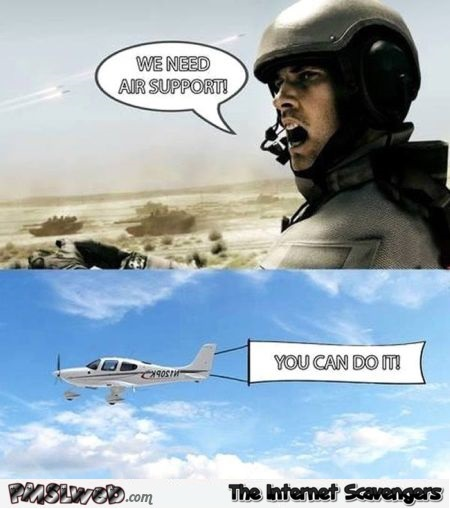 Air support humor at PMSLweb.com