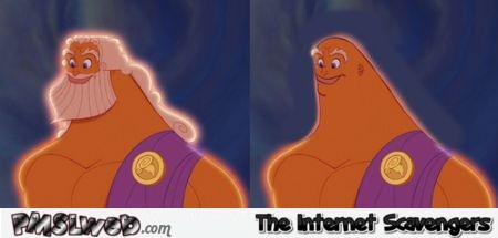 Bald Disney Zeus humor at PMSLweb.com