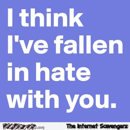 I've fallen in hate with you quote
