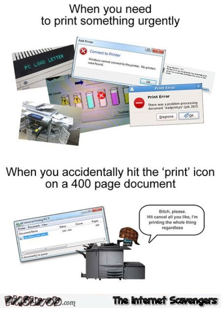 Funny printer logic