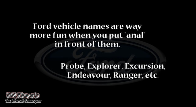 Funny Ford vehicle names game at PMSLweb.com