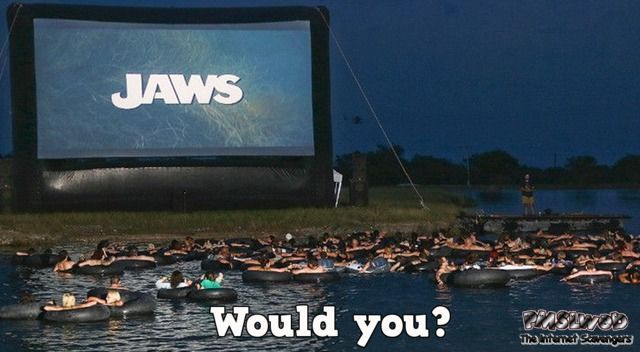 Would you watch Jaws like this? At PMSLweb.com