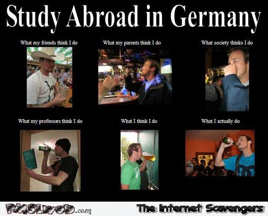 Study abroad in Germany humor at PMSLweb.com