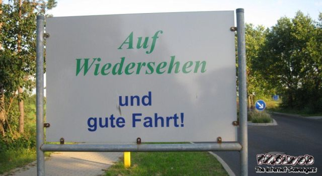 Funny German gute fahrt sign – Funny germany at PMSLweb.com
