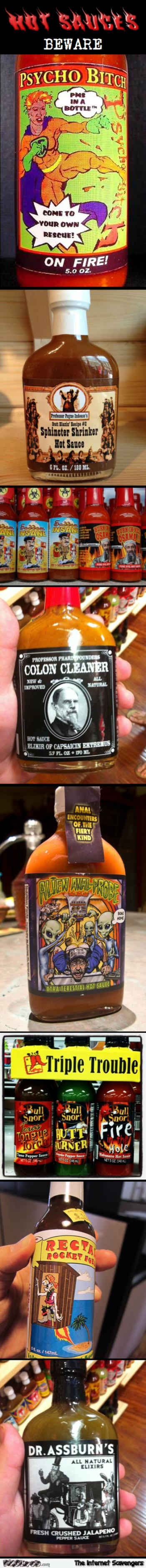 Funny hot sauces at PMSLweb.com