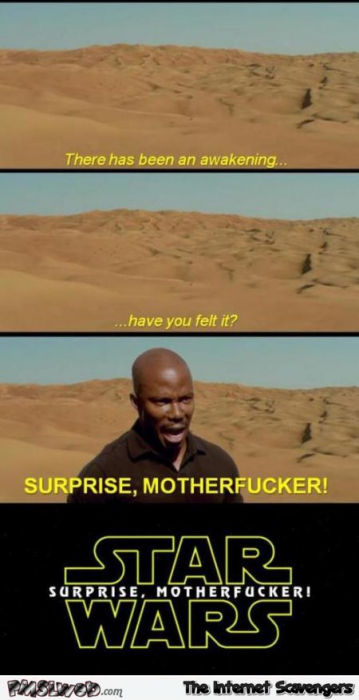 Funny surprise star wars