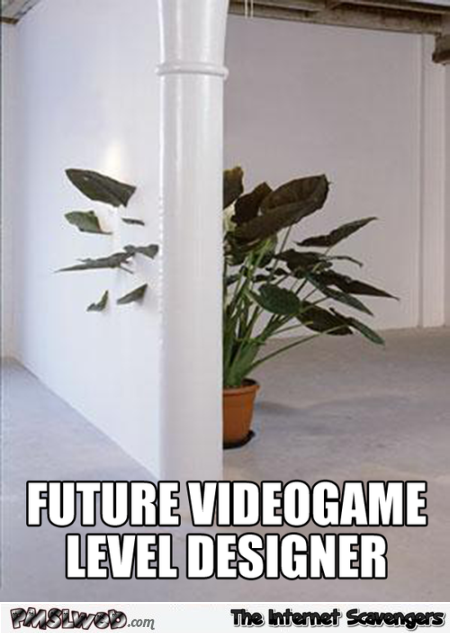 Future video game level designer meme @PMSLweb.com