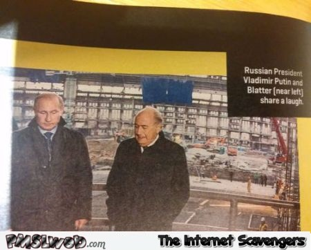 Putin and Blatter share a joke @PMSLweb.com
