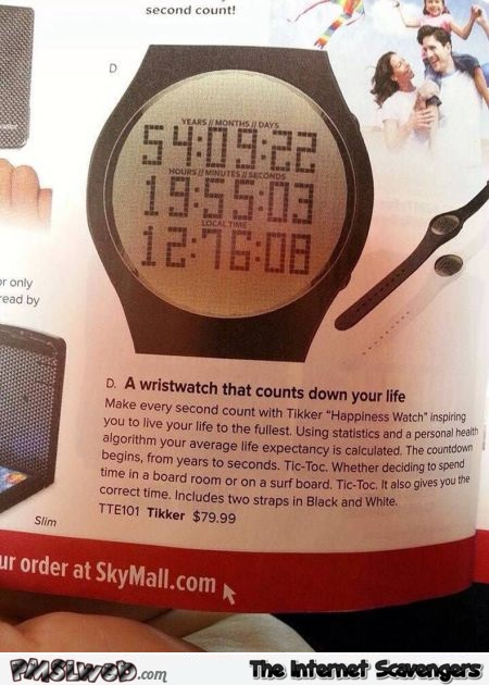 A wristwatch that counts down your life @PMSLweb.com