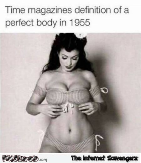 Definition of a perfect body in 1955 at PMSLweb.com