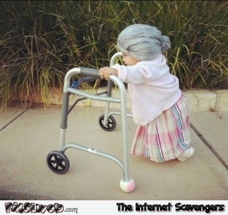 Funny kid Halloween grandmother costume