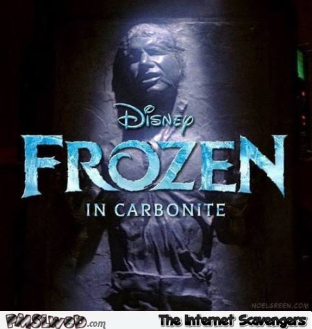 Funny Disney frozen in carbonite @PMSLweb.com