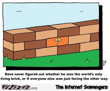 Only living brick funny cartoon at PMSLweb.com