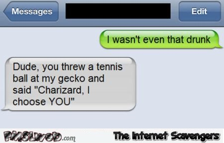 I wasn't even that drunk funny text at PMSLweb.com