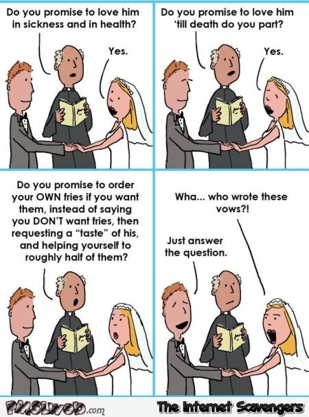 Funny Wedding Vows Cartoon